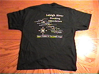 Green LRSA T-shirt rear view